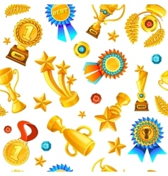 Gold Trophies Pattern vector image vector image