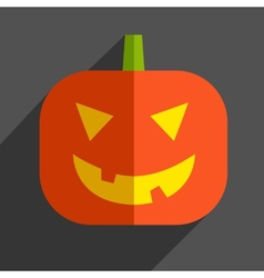 Halloween pumpkin icon vector image vector image