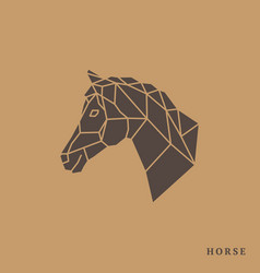 Horse head geometric lines silhouette vector