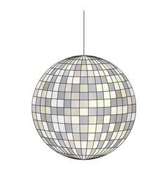Mirrored disco ball vector