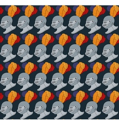 seamless medieval pattern number two vector image vector image