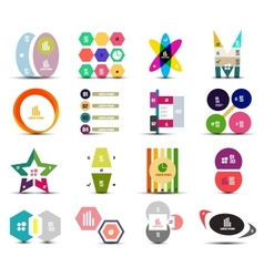 Set of infographic templates shapes elements vector image