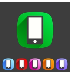 Smartphone tablet flat icon badge vector