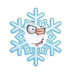 SnowFlake Emoticon Wink vector image vector image