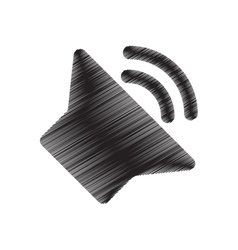 Speaker sound volume pictogram draw vector