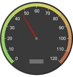 Speedometer or tachometer with arrow Colorful vector image