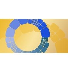 Square blue orange circular gradient geometrical vector