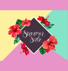 Summer sale announcement poster banner flyer vector