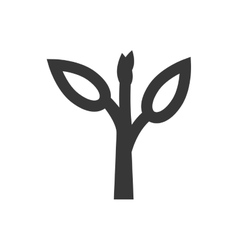 Leaf plant silhouette nature ecology icon vector