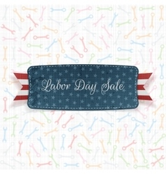 Labor day sale label with text vector