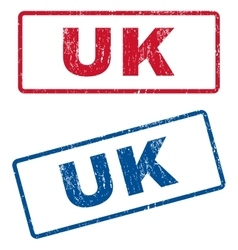 Uk rubber stamps vector