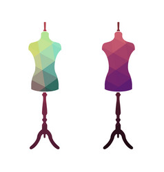 fashion stand female torso mannequin vector image