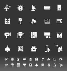 General office icons on gray background vector