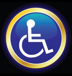 wheelchair symbol vector image