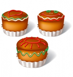 Muffins vector
