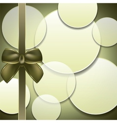 Cover of the present box green background vector