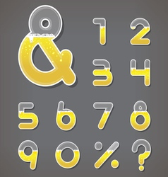Beer numbers set and ampersand letter vector