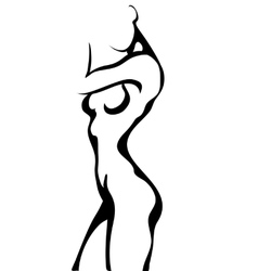 Sketch of woman torso vector