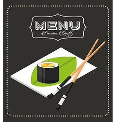 Menu japanese food vector