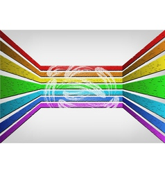 Voluminous rainbow background vector