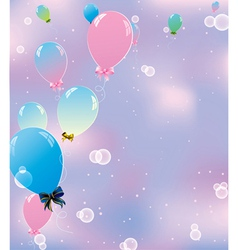 sky pink balls vector image