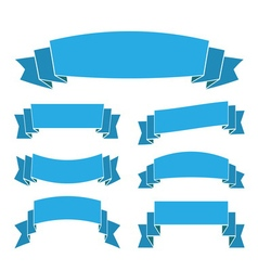 Blue ribbon banners vector