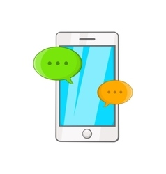 Phone messages icon cartoon style vector