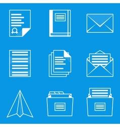 Blueprint icon set paper 2 vector