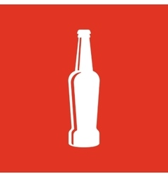 Bottle of beer icon Beer and pub bar symbol UI vector image