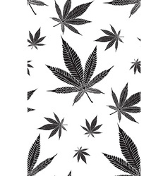 Cannabis pattern3 vector image