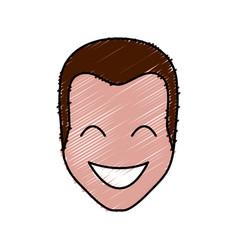Cartoon happy man vector