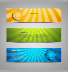 collection banners with colorful abstract circular vector image
