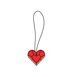 Cute necklace heart jewelry for princess girl vector