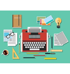 Editor workplace vector