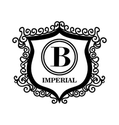 emblem royal quality design vector image vector image