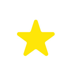 Flat design style of star vector