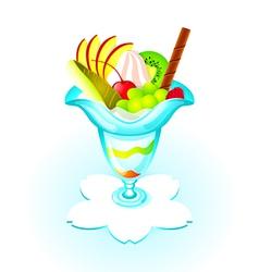 fruit parfait vector image vector image