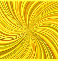 Golden swirl background from curved stripes vector