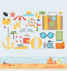 icons and concepts in flat style - travel and vector image