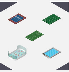 Isometric lifestyle set of ice games american vector