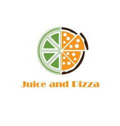 juice and pizza concept vector image vector image