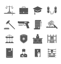 Law enforcement icons set vector