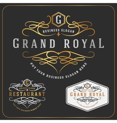 Luxurious royal logo re-sizable design vector