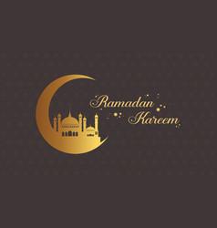 Ramadan kareem style greeting card vector