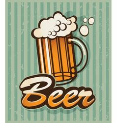retro beer vector image vector image