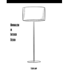 round floor lamp on a long leg in a contour on a vector image vector image