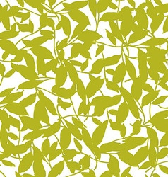 Seamless floral patter with leaves vector