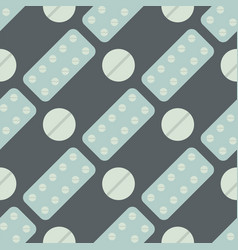 Seamless pattern with pills and capsules vector