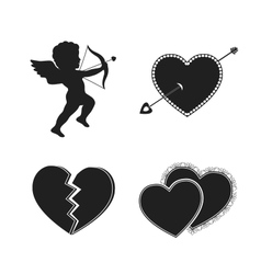 Set of valentine tattoos vector image vector image