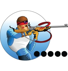 Snow shooting vector